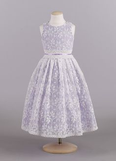 Victorian all over lace Flower girl dresses :  wedding ceremony dress flower girl lace dresses ivory purple reception victorian style vintage white FLOWERGIRL