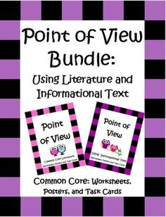 Lots of focused point of view practice for 4th and 5th graders in this 96 page bundle! Both Point of View using Literature and Informational Text are included. This unit is loaded with worksheets, posters, 2 sets of task cards and more! $