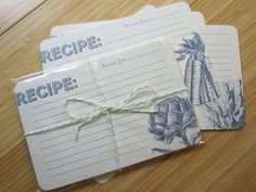 Vegetable Recipe Cards. $15.00, via Etsy.