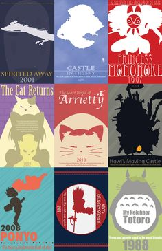 Minimal posters. Each movie will strike feeling in your heart. I guarantee it.