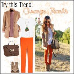 ways to wear orange