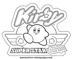kirby ultra super star coloring page