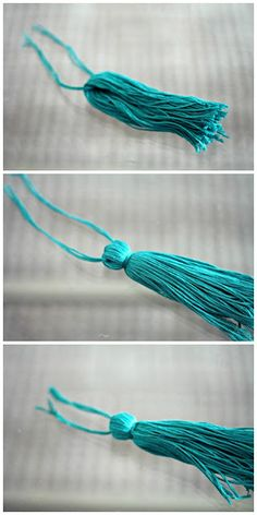 DIY Tassel. thinking about making a ton of these and putting them pretty much everywhere.