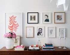 Wall art - I like the mixed frames