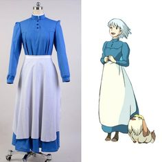 Hot!Howl's Moving Castle Sophie Hatter Uniform COS Clothing Cosplay Costume…