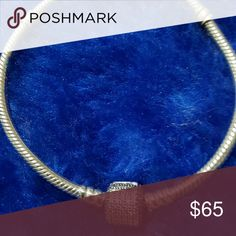 Pandora bracelet with pave barrel clasp This is a beautiful bracelet.  Barely worn.  This price is firm. Pandora Jewelry