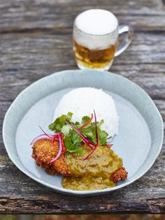 This delicious chicken katsu curry recipe from Jamie Oliver makes a comforting dairy-free dinner for weekends. Serve with coconut rice and a quick pickle. Chicken Katsu Curry Recipes, Chicken Recipes, Chicken Curry, Friday Night Feast, Coconut Rice, Yum Yum Chicken, Garam Masala, Chutney, The Best
