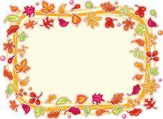 Folhas de outono armação - ilustração de arte vetorial