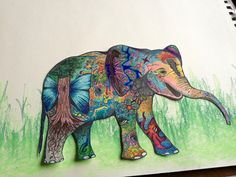 #elephant drawing