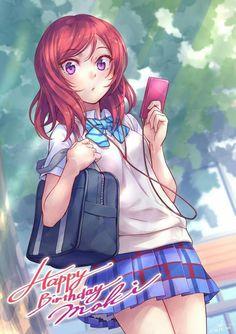 Maki maki maa Anime Love, Beautiful Anime Girl, Anime School Girl, Anime Art Girl, Love Live School Idol Project, Maki Nishikino, Cute Girls, Cool Girl, Art Manga