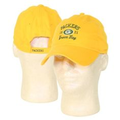 "Green Bay Packers ""1921"" Slouch Style Adjustable Hat (3 Colors) - Yellow by Reebok. $6.98. Adjustable one size fits all. Officially licensed. Fulfilled by Amazon. Show off your team spirit with an officially licensed NFL Hat. They also make great gifts"