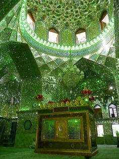 "Shah Cheragh mosque in Shiraz, Iran. The name Shah Cheragh translates into ""King of the Light"" or ""Shrine of the lord of the light"". Islamic Architecture, Beautiful Architecture, Beautiful Buildings, Art And Architecture, Beautiful World, Beautiful Places, Shiraz Iran, Kirchen, Islamic Art"