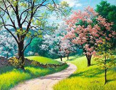 levkonoe: Arthur Saron Sarnof - Spring in park