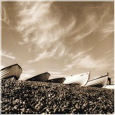 ACHICA   Black & White Picture Gallery - Boats, Pett Level, Hastings, 60 x 80cm Photography Classes, White Picture, Sky, Black And White, Landscape, House Styles, World, Nature, Pictures