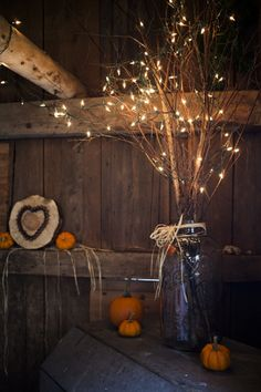 fall decoration ideas would be a cute way to light up dark areas around the room!