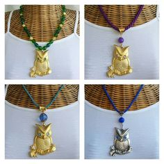 Handmade jewelry. Necklace. Owl. Design.