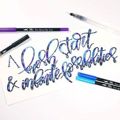 Who agrees? 😀 We'd love to hear your 2017 goals! Let's start off the NY with bundles of creativity 💫 . . Galaxy inspiration from the lovely @lavenderlanedesigns . Using her MozArt Dual Brush Pens and Water Brush Pens (Available on Amazon!). . #MozArtSupplies #newyearresolutions #2017goals #typography #ink #inspo #watercolor #painting #illustration #drawingoftheday #instadaily #sketching #lettering #calligraphy #art #artists #artwork #script #brushscript #handlettering #letters…