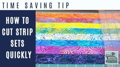 Time-saving quilting