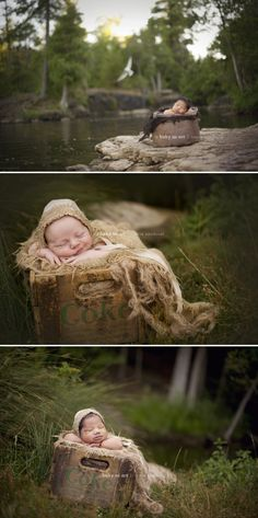 © Baby as Art | Carrie Sandoval - outdoor newborn photography in Ontario, Canada. #photogpinspiration