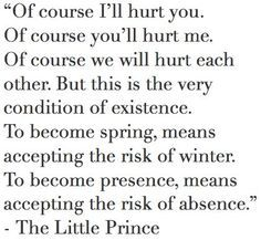 The Little Prince. This actually is giving me a lot to think about, intrapersonally and interpersonally. Quotable Quotes, Book Quotes, Me Quotes, Cartoon Quotes, Author Quotes, Great Quotes, Quotes To Live By, Inspirational Quotes, Cool Words