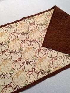 Pumpkin Patch Table Runner by ThePlaidPiecemaker on Etsy