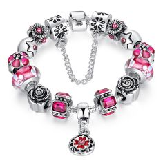 Cheap bracelets for, Buy Quality strand bracelets directly from China bracelets for women Suppliers: BAMOER Silver Original Glass Bead Strand Bracelet for Women With Safety Chain & Crystal Fashion Jewelry Silver Beads, Silver Charms, 925 Silver, Sell Silver, Sterling Silver, Pandora Bracelets, Beaded Bracelets, Charm Bracelets, Link Bracelets
