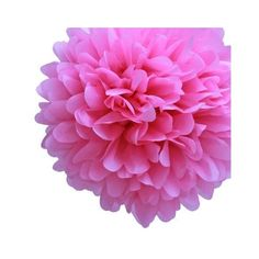"Dress My Cupcake 14"" Cherry Blossom Pink Tissue Paper Pom Poms, Set Of... ❤ liked on Polyvore"