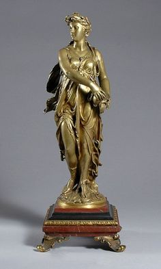 Gilt-Bronze and Rouge Marble Classical Female Fig : Lot 2114 Fig, Sculptures, Marble, Statue, York, Female, Deco, Red, Ficus