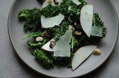 foods, amaz salad, winter salad, hazelnut salad, apples, salad inspir, kale salad, salads