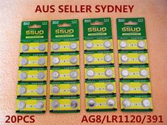 20pcs AG8/LR1120/391 Button Cell Coin JAPAN STD Alkaline Battery 1.55V Watch Toy