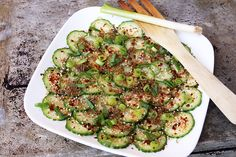 Азиатский салат из огурцов с ширатаки - рецепт. PPfood.ru