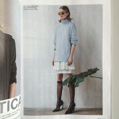 Michaela Hlaváčková in #NEHERA in EVA Magazine Wearing Spring/Summer 2015 ivory silk skirt and dress #ss15