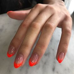 Frensh Nails, Gel Manicure, Hair And Nails, Red Tip Nails, Colour Tip Nails, Stiletto Nails, Minimalist Nails, Nagel Hacks, Nagellack Trends