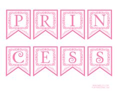 FREE Pink Princess printable banner #pinkprincess #freeprintables