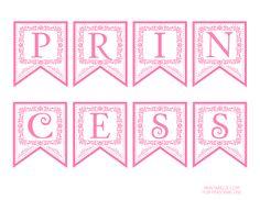 FREE Pink Princess printable banner #pinkprincess #freeprintables