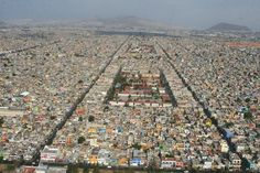 """General view of Nezahualcóyotl. Ideas competition """"Big Urban Crunch"""". Courtesy of ReTHINKing. Click above to see larger image."""