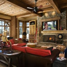 TV Over Fireplace Design Ideas, Pictures, Remodel, and Decor - page 3