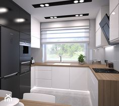 Kitchen Ceiling Design, Interior Design Kitchen, U Shaped Kitchen, Tiny House On Wheels, Küchen Design, Kitchenette, Apartment Design, New Room, New Homes