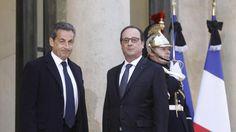All'Eliseo incontro Hollande- Sarkozy