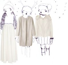 It's cold outside! And snowy!  Illustration by Giulia Cerini