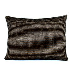 Lumbar Pillow Black Gold Chenille Decorative by couchdwellers