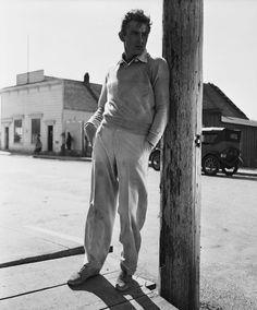 """jamesbyron-dean: """""""" James Dean on the set of East of Eden, 1954. """" """""""