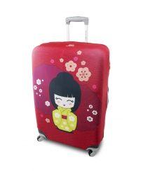 Housse de valise Kokeshi