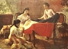 Happy 116th Independence Day, #Philippines! The detail of Fernando Amorsolo's The Making of the Philippine flag depicts #Pinay Marcela Agoncillo, the Mother of the Philippine Flag, putting together the first flag of our country. #pinaydotcom