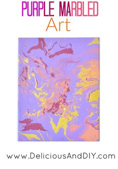 Purple Marbled Art -