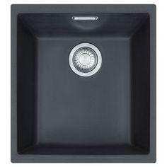 Franke Sirius 1 Bowl Undermount Sink Black 27L