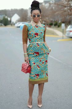 Inspiration: 10 idées de looks de Karen, Living my bliss instyle - Pagnifik African Inspired Fashion, African Print Fashion, Africa Fashion, Fashion Prints, African Print Dresses, African Fashion Dresses, African Dress, African Prints, Ankara Fashion