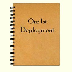 Kraft paper Military girlfriend/spouse Deployment journal or notebook. Keep track of the journey and memories of that 1st military deployment. What