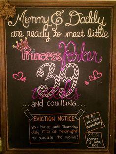 39 week pregnancy chalkboard