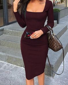 Women's Fashion Vestidos Bodycon Online Shopping – Chic Me Mode Outfits, Fashion Outfits, Womens Fashion, Dress Fashion, Ladies Fashion, Style Fashion, Feminine Fashion, Fashion Sandals, Unique Fashion
